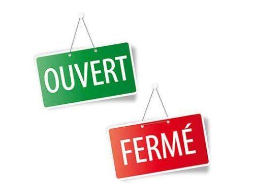 HORAIRES D'OUVERTURE VACANCES DE LA TOUSSAINT